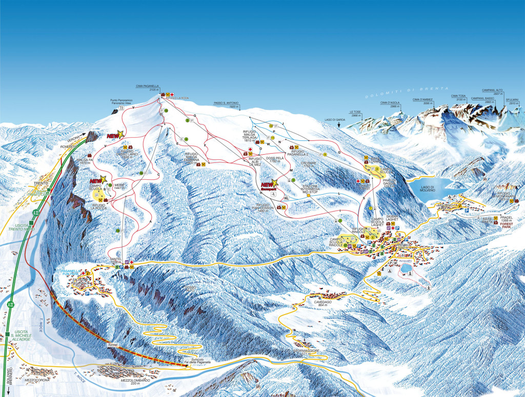 Andalo Piste Map
