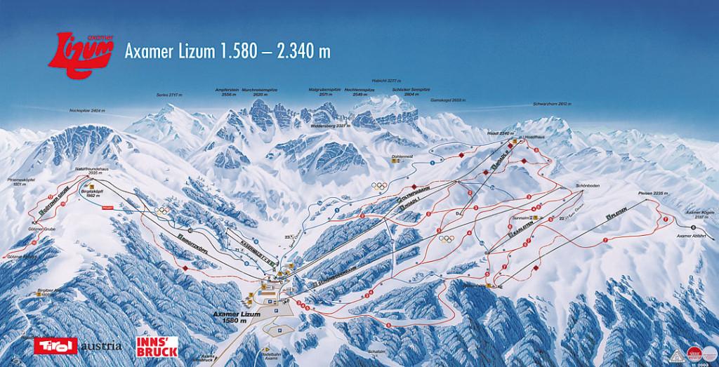 Axamer Lizum Piste Map