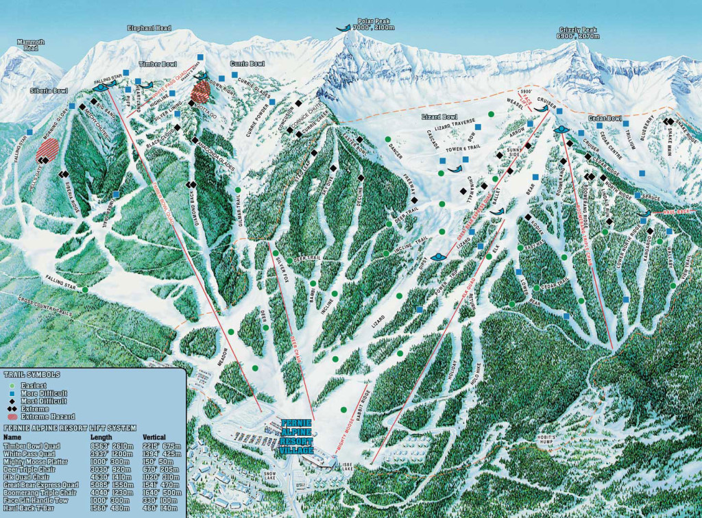Fernie Piste Map